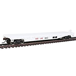 WalthersTrainline Ready to Run Soo Line #5033 Flatcar, White