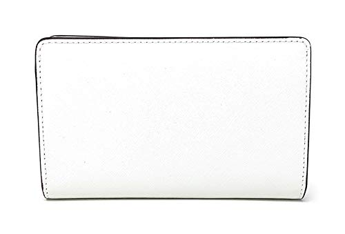 Michael Kors Jet Set Travel Saffiano Leather Slim Bifold Wallet (Optic White) by Michael Kors (Image #1)