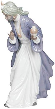 Figura Rey Baltasar con Tarro. Los Reyes Magos de Porcelana