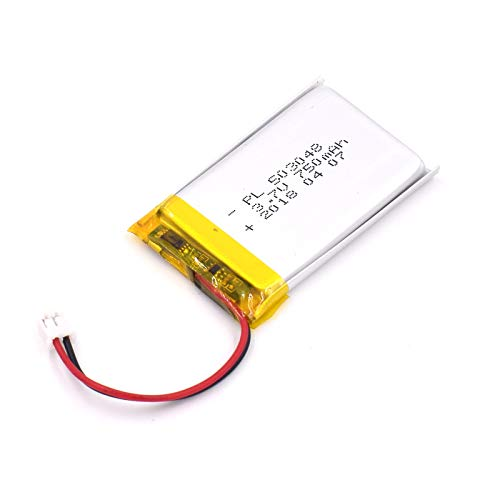 YDL 3.7V 750mAh 503048 Lipo battery Rechargeable Lithium Polymer ion Battery Pack with JST Connector