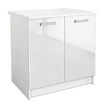 start meuble bas de cuisine 80 cm avec plan de travail inclus ... - Element Bas De Cuisine Avec Plan De Travail