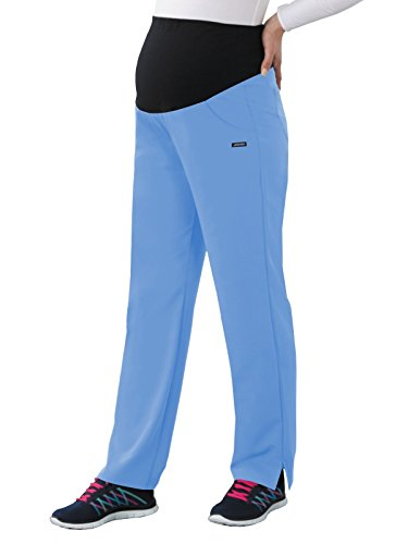 Classic Fit Collection by Jockey Women's Maternity Ultimate Elastic Waistband Scrub Pant Small Ceil ()