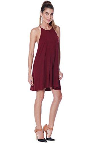 Shift Burgundy Halter Jersey Swing Dress Womens Alexander Tank Knit Casual David Tunic PwqIWZ