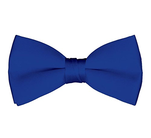 Men's Classic Pre-Tied Formal Tuxedo Bow Tie - Royal - Tie Classic Blue