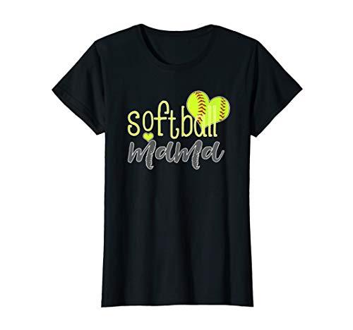 Womens Softball Mama Shirts Softball Mom T Shirt ()