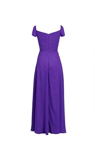 YiYaDawn vestido largo Formal Prom Vestido de noche de gasa Rosado Coral