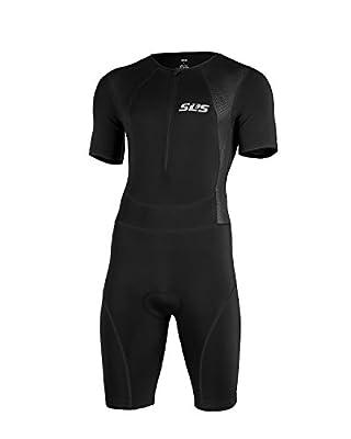 Men`s Triathlon Suit - Short Sleeve Tri Suit - 1 Pocket - Skinsuit Trisuit - Great Fit And Comfortable from SLS3