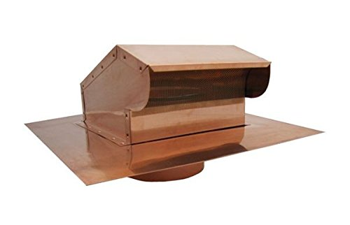 Bath and Kitchen Exhaust Vent with Extension - Copper 4 inch by Famco