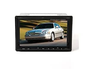 "7"" 16:9 TFT Double-floor Touch Screen 2 Din In-dash Car DVD Media Player with GPS Bluetooth TV IPOD (Silver)"