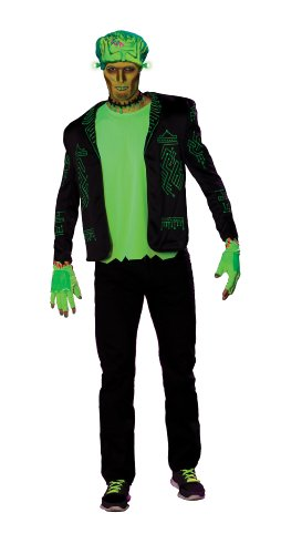 [Rubie's Costume Haunted Rave Light Activated Franken Raver Costume, Black, Standard] (Rave Monster Costume)