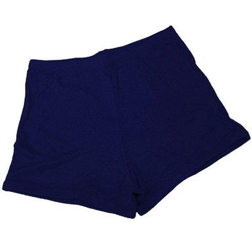100 % Stretch Nylon Cheerleading Boy-Cut Brief Trunks, AXS, Navy Blue