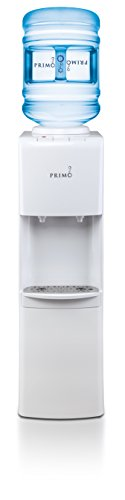 (Primo Top Loading Water Cooler - 2 Temperature Settings, Hot & Cold - UL/Energy Star Qualified Water Dispenser with Child-Resistant Safety Feature Supports 3 or 5 Gallon Water Jugs [White])