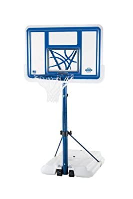 Lifetime 1306 Pool Side Height-Adjustable Portable Basketball System with 44in Clear Acrylic Backboard