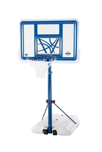 Lifetime 1306 Pool Side Height Adjustable Portable Basketball System, 44 Inch Backboard by Lifetime