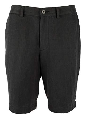(Tommy Bahama Men's Monterey Flat Front 10-Inch Shorts-BLK-30 Black )