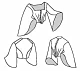 old dresses for women - 1859 Pagoda Bodice Pattern