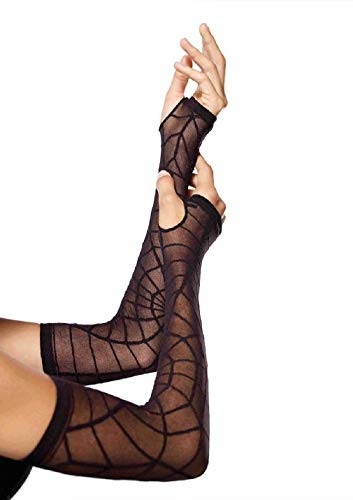 Adult size Sheer Spider Web Arm Warmers - Costume Accessory