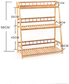 JZ Muebles para el hogar Macetas para Flores Almacenamiento de Racks de Flores Múltiples Carnes Racks de Flores Bambú Bambú Balcón Macetas Barandas de Estante Escalera de múltiples Capas Colgante Pla: Amazon.es: