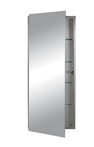 Jensen 629SSX 629SS Polished Edge Mirror Medicine Cabinet, 15