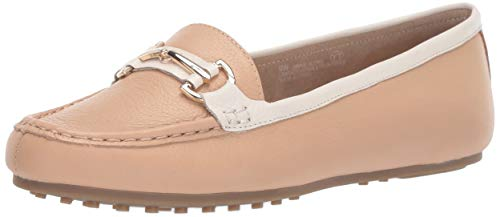 Aerosoles Women's Along Driving Style Loafer, Light Tan Combo, 8 W US