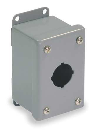 Pushbutton Enclosure, 30mm, 1 Hole, Steel