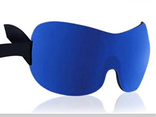 3D Eye Mask Shade Cover Rest Sleep Eyepatch Blindfold Shield Travel Sleeping Aid (Color: Sapphire)