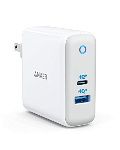 Anker 60W PIQ 3.0&GaN Tech USB C Charger, PowerPort+ Atom III (2 Ports) [One for All] Compact Type-C Charger (PIQ 2.0 USB-A Port), for USB-C Laptops, MacBook, iPad Pro, iPhone, Galaxy, Pixel and More