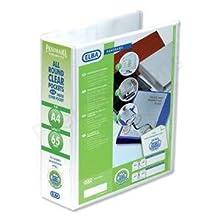 Emgee 560350 - Archivador de 2 anillas (formato A4, lomo de 70 mm, 5 unidades, tapas con fundas transparentes), color blanco
