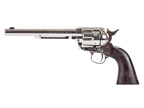 Colt SAA Peacemaker 7.5' CO2 Pellet Revolver, Nickel air pistol