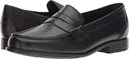 Rockport Men's Classic Lite Penny Loafer, Black/Black, 11 D(M)US