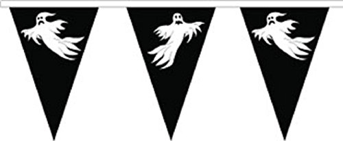 Halloween Ghost Superior Material String Flags / Bunting 10m (33') Long With 24 Flags -