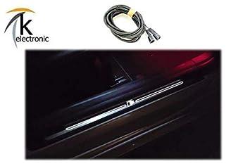 k-electronic Audi A4 B9 8 W Iluminado Listones de umbral Juego de Cables: Amazon.es: Coche y moto