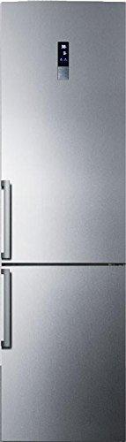"Summit FFBF191SSLHD 24"" Energy Star Bottom Freezer Refrigera"
