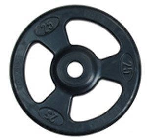 York Barbell 29023'' Iso-Grip Rubber Encased Steel Composite Olympic Grip Plate, Black, 25 lb by York Barbell
