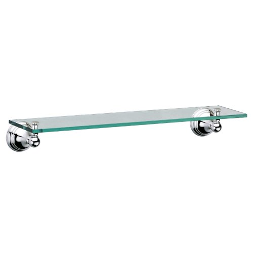 Gatco 4356 Charlotte Glass Shelf, Chrome