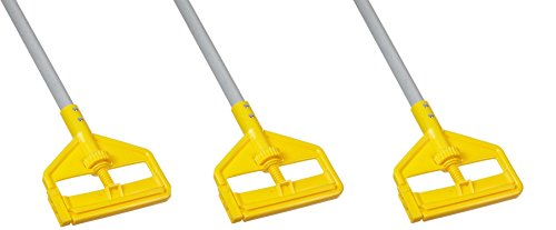 Rubbermaid Commercial Invader Side Gate Wet Mop Handle, 54-Inch, FGH145000000 (3 MOP HANDLES) by Rubbermaid Commercial Products
