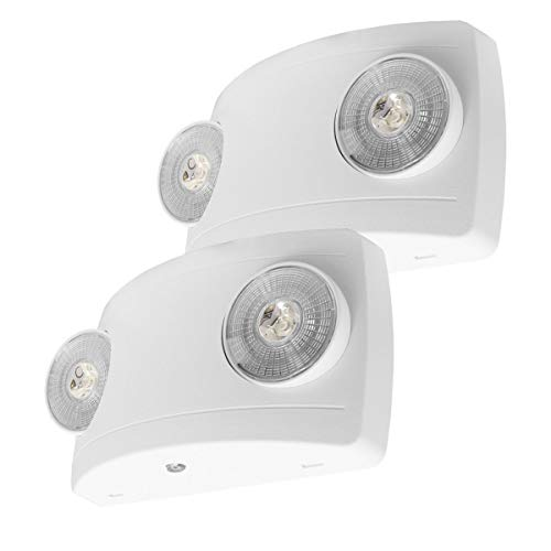 LFI Lights - UL Certified - 2 Pack - Hardwired LED Emergency Light - Super Compact - ELCW2x2 from Light Fixture Industries