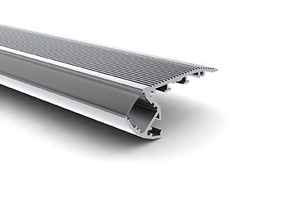 Edilights profilo in alluminio da gradino con alloggiamento per