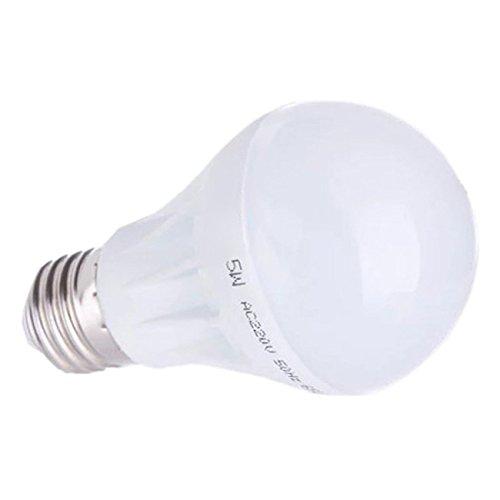 TOOGOO(R)E27 Ahorro de Energia LED Bombilla Luz Lampara 220V 5W Blanco Calido