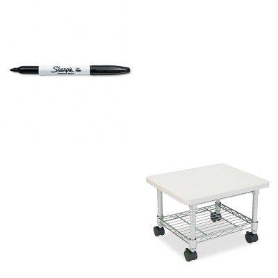 (KITSAF5206GRSAN30001 - Value Kit - Safco Underdesk Printer/Fax Stand (SAF5206GR) and Sharpie Permanent Marker (SAN30001))