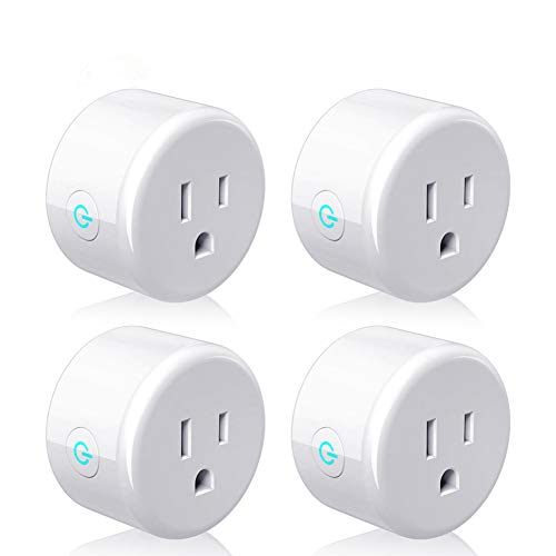 Smart Plug, Lightstory Mini Wi-Fi Socket Outlet Works with Alexa Echo/dot Compatible with Google Home Assistant IFTTT, Remote Control Your Devices from Anywhere, No Hub Required, 4 Pack by LIGHTSTORY