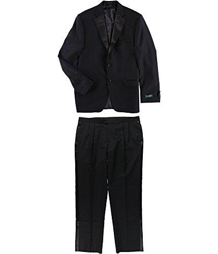 Lauren by Ralph Lauren Mens S Two Button Wool Suit Set Black 40 ()