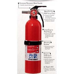 First Alert Rechargeable Recreational Extinguisher