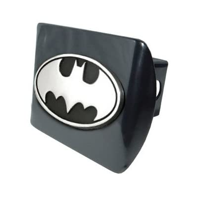 Elektroplate Batman Premium Metal Trailer Hitch Cover with Chrome Oval Bat Logo: Automotive