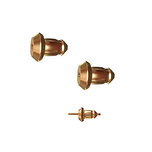 Lux Lock most secure USA Patented Replacement Earring Back in 14k Yellow Gold (Patent# US8365369) ()