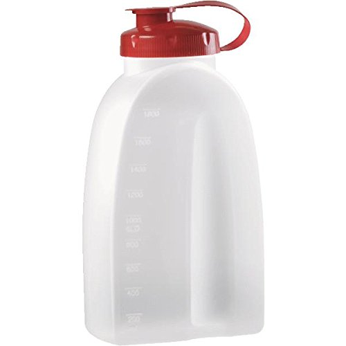 Rubbermaid 071691309116 Home 1776348 Servin' Saver Storage Bottle, 1-Pack, White