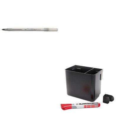 KITBICGSM11BKQRT85374 - Value Kit - Quartet Prestige Connects 2 Accessory Storage Cup (QRT85374) and BIC Round Stic Ballpoint Stick Pen (BICGSM11BK)