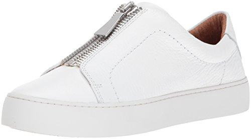 Frye Kvinders Lena Zip Lav Mode Sneaker Hvid Tumlede Ko xwRRiGgR