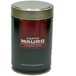 Caffe Mauro - Italian Roasted Ground Coffee CENTOPERCENTO (2 Pack) by Caffe Mauro