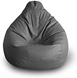 XXX-Large, Grey Without Bean Fillers Jumbo Size Ink Craft Bean Bag Chair Cover Only Protective Liner from Ink Craft